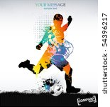 template sports training .... | Shutterstock .eps vector #54396217
