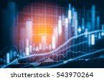 stock market or forex trading... | Shutterstock . vector #543970264