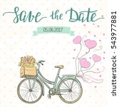 wedding invitation template... | Shutterstock .eps vector #543977881