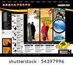 website layout   Shutterstock .eps vector #54397996