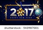 vector 2017 happy new year... | Shutterstock .eps vector #543987001