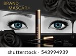 mascara design picture  with... | Shutterstock .eps vector #543994939