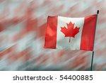 Canada Maple Leaf flag to celebrate Canada Day - stock photo