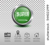 circle flag of saudi arabia in... | Shutterstock .eps vector #544021999
