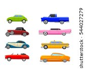 retro car vector vehicle... | Shutterstock .eps vector #544027279