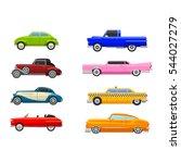 retro car vector vehicle. | Shutterstock .eps vector #544027279