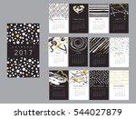 vector calendar 2017 with hand...   Shutterstock .eps vector #544027879