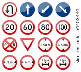 Road Sign Glossy Vector  Set 7...