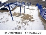 Outdoor Stairs After Snow With...