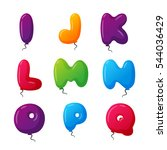 balloon alphabet vector set. | Shutterstock .eps vector #544036429
