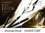 cosmetic eyeliner products ... | Shutterstock .eps vector #544047289
