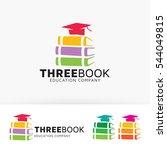 three books. vector logo... | Shutterstock .eps vector #544049815