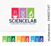 science lab. vector logo... | Shutterstock .eps vector #544057147