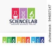 science laboratory logo design. ... | Shutterstock .eps vector #544057147