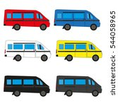 set the machine. minibus.... | Shutterstock .eps vector #544058965