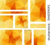 set of banner templates with... | Shutterstock .eps vector #544059091