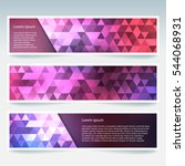 horizontal banners set with... | Shutterstock .eps vector #544068931