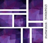 set of purple banner templates... | Shutterstock .eps vector #544069015
