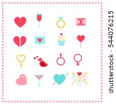 valentines day icon set | Shutterstock .eps vector #544076215
