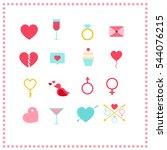 valentines day icon set | Shutterstock .eps vector #544076215