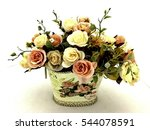 bouquet flowers isolated on... | Shutterstock . vector #544078591