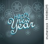 vintage style new year greeting ... | Shutterstock .eps vector #544080295