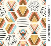 Watercolor Hexagon Seamless...