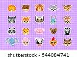animal carnival set of animal... | Shutterstock .eps vector #544084741