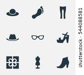 Set Of 9 Simple Wardrobe Icons...