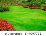landscape formal  front yard is ... | Shutterstock . vector #544097731
