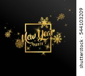 new year party banner with... | Shutterstock .eps vector #544103209