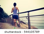 young fitness sports woman ...   Shutterstock . vector #544105789