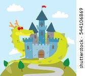 vector cartoon illustration of... | Shutterstock .eps vector #544106869