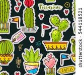 fashion pop art seamless... | Shutterstock .eps vector #544118521