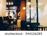 coffee shop blur background... | Shutterstock . vector #544126285
