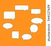 text balloons   Shutterstock .eps vector #544127659