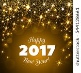 happy new year 2017 greeting... | Shutterstock . vector #544128661