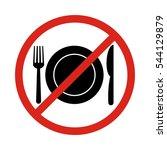 no eating vector sign no food...