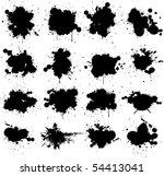 grunge vector paint splat   Shutterstock .eps vector #54413041