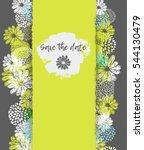 vector card with lemon  white ... | Shutterstock .eps vector #544130479