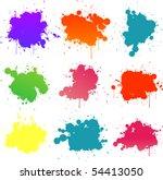 colorful paint splat | Shutterstock .eps vector #54413050