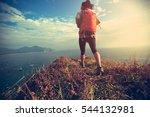 successful hiker walking on... | Shutterstock . vector #544132981