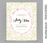 wedding invitation card... | Shutterstock .eps vector #544133581