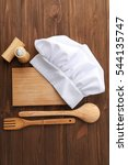 chef hat  cutting board and... | Shutterstock . vector #544135747