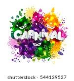illustration of carnival mardi... | Shutterstock .eps vector #544139527