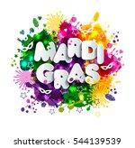 illustration of carnival mardi... | Shutterstock .eps vector #544139539