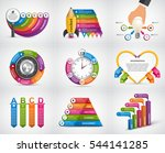 collection infographics. design ... | Shutterstock .eps vector #544141285