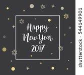 happy new year 2017chalkboard... | Shutterstock .eps vector #544149901