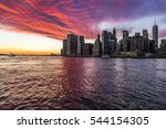 Sunset Over New York Skyline