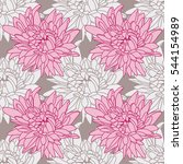 seamless floral wallpaper with... | Shutterstock . vector #544154989